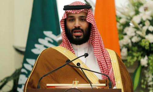 Thái tử Arab Saudi Mohammed bin Salman phát biểu tại New Delhi, Ấn Độ hôm 20/2. Ảnh: Reuters.