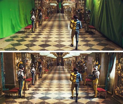 Cung điện trong phim Lọ Lem.