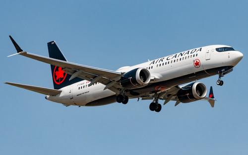 Một chiếc 737 MAX 8 của hãng Air Canada hoạt động hồi tháng 11/2018. Ảnh: Airliners.