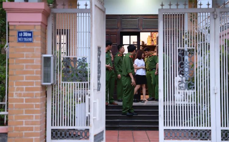 Nhà bà Hà ở quận Hải Châu bị công an khám xét vào chiều 19/3. Ảnh: Nguyễn Đông.
