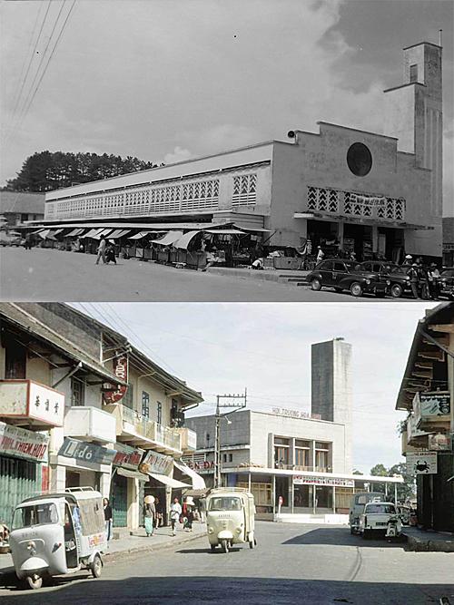 Hội trường Hòa Bình được xây dựng trên nền của ngôi chợ cũ Đà Lạt nhưng vẫn giữ nét kiến trúc khá tương đồng với chợ cũ. Ảnh: Tư liệu.