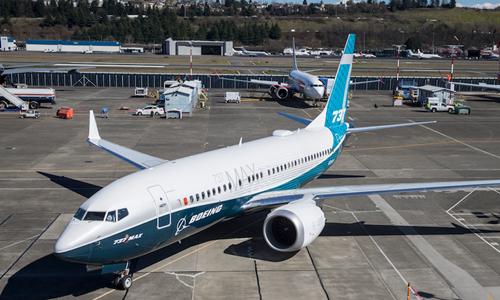 Máy bay Boeing 737 Max 8 tại Washington tháng 3/2018. Ảnh:AFP.