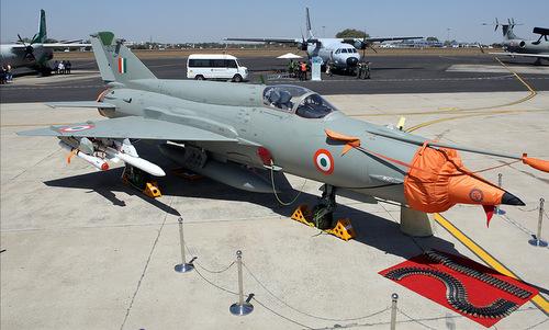 Tiêm kích MiG-21 Bison Ấn Độ tại triển lãm Aero India 2019. Ảnh: Marina Lystseva.