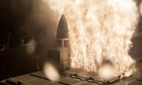 Quả đạn SM-3 Block IIA rời bệ phóng trong cuộc thử nghiệm năm 2018. Ảnh: MDA.