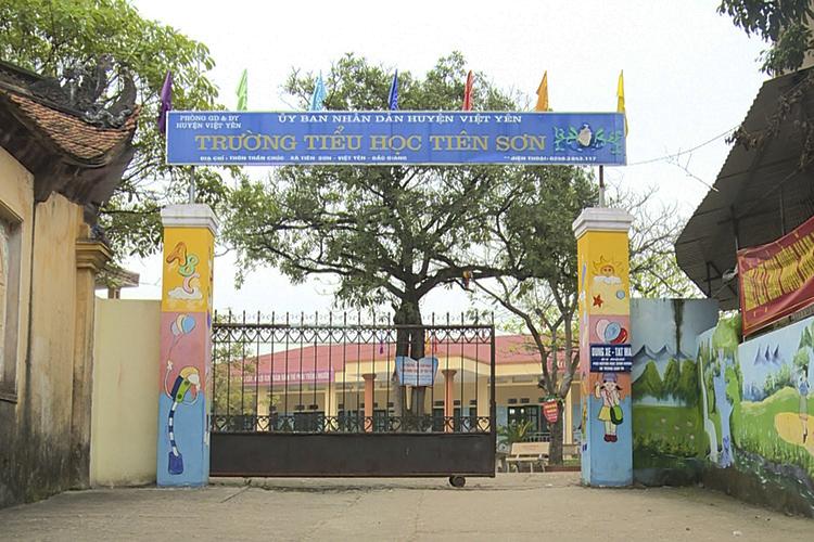 Trường tiểu học Tiên Sơn. Ảnh:Huy Mạnh.