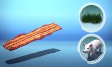 Anh dùng lá cỏ để tạo ra thịt lợn muối hun khói