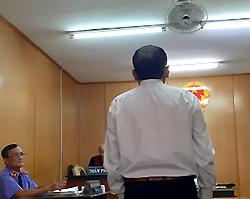 Bị cáo Hà tại tòa. Ảnh: H. D.