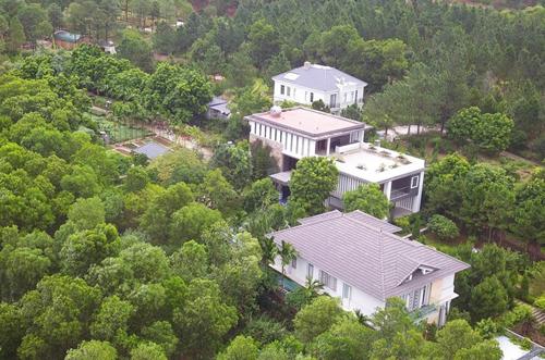 Một số công trình xây dựng tại xã Minh Phú, huyện Sóc Sơn. Ảnh: Gia Chính.