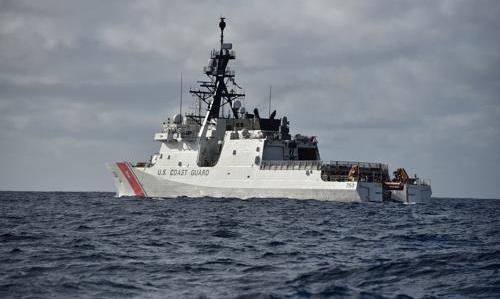 Tàu tuần duyênBertholf của Mỹ. Ảnh: Yonghap.