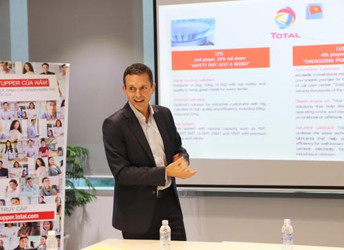 Ông Xavier Pinatelle - Tổng giám đốc Công ty Trách nhiệm hữu hạn Total Việt Nam.