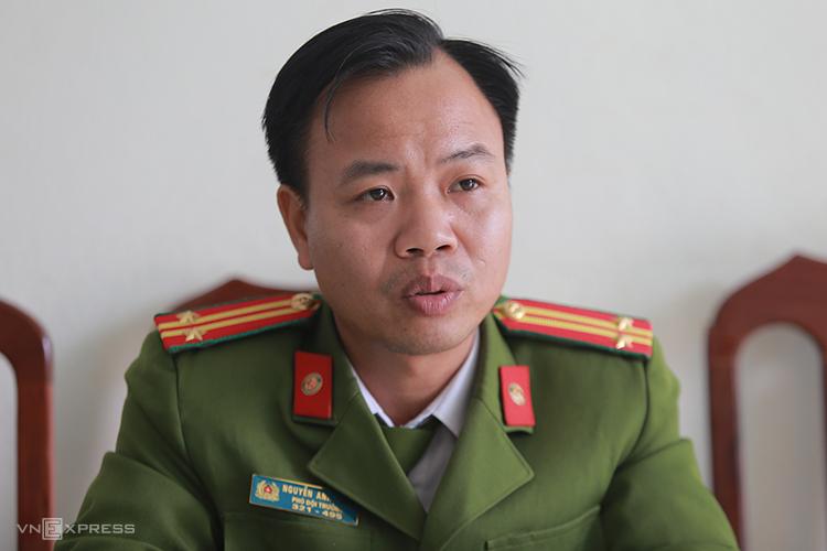Trung tá Nguyễn Anh Tuấn. Ảnh: Gia Chính.