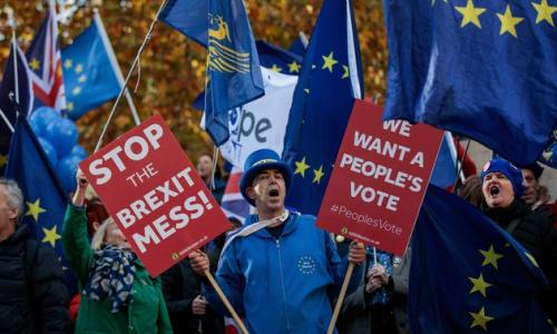 Người dân Anh phản đối việc nước này rời khỏi EU. Ảnh: AFP.
