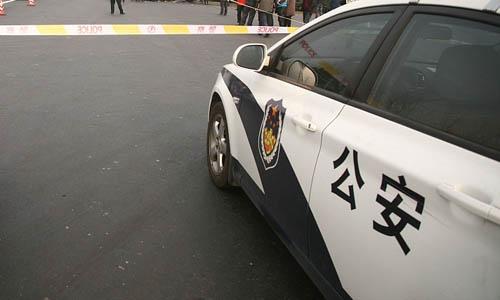 Một xe cảnh sát Trung Quốc. Ảnh: CGTN.