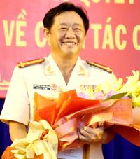 Đại tá Nguyễn Hoàng Thao khi được bổ nhiệm làm Giám đốc Công an tỉnh hồi năm 2015. Ảnh:Nguyệt Triều.