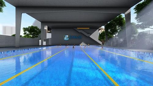Trường có các phòng học thể thao đa năng, đáp ứng tiêu chuẩn quốc tế.