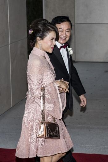 Công chúaUbolratana và cựu thủ tướng Thái Thaksin tại Hong Kong ngày 22/3. Ảnh: AFP.