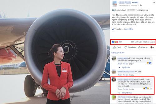 Thông báo tuyển dụng của hãng hàng không được hàng chục nghìn người hưởng ứng.