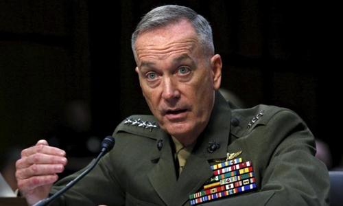 hủ tịch Hội đồng Tham mưu trưởng liên quân Joseph Dunford. Ảnh: Reuters.