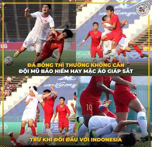 Đá bóng với Indonesia thì phải luyện mình đồng da sắt mới ổn.