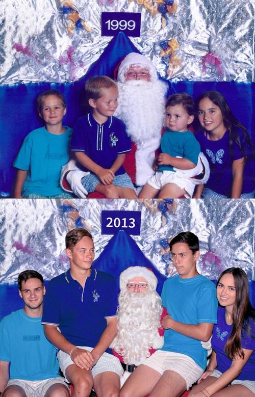 So với các cháu ngày xưa, ông già Noel giờ bé nhất.