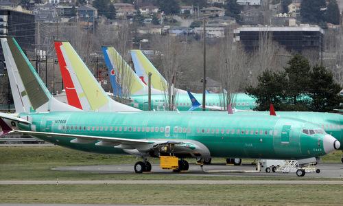 Máy bay 737 MAX thử nghiệm tại nhà máy Boeing ở bang Washington hồi năm 2018. Ảnh: Reuters.