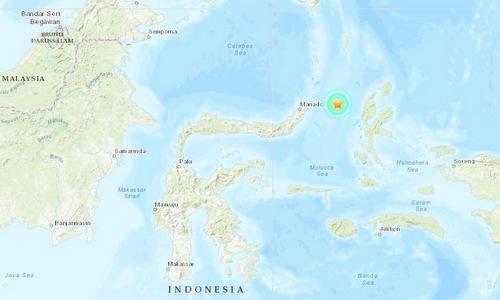 Vị trí tâm chấn của trận động đất mạnh 6,1 độ. Đồ họa:USGS.