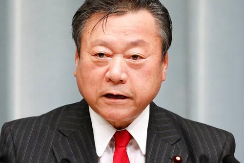 Bộ trưởng An ninh Mạng Yoshitaka Sakurada. Ảnh: Kyodo.