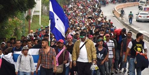 Dòng người di cư từ Honduras đổ về biên giới Mỹ - Mexico hồi tháng 10/2018. Ảnh: Nation.