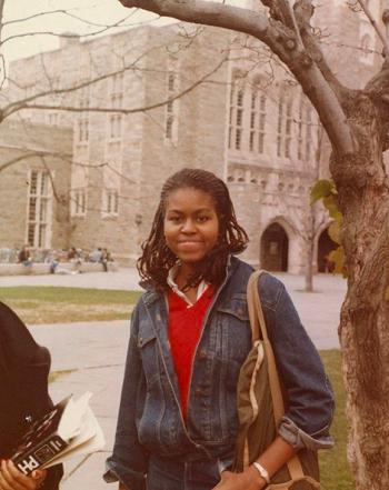 Michelle Obama trong những năm tháng sinh viên tại Đại học Princeton, New Jersey, Mỹ. Ảnh: Pinterest
