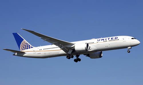 Một máy bay Boeing 787 của hãng hàng không United Airlines. Ảnh: Planespotters.
