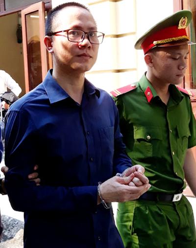 Bị cáo Quân sau phiên tòa. Ảnh: Hải Duyên.
