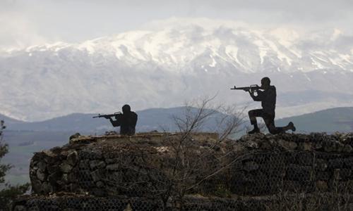 Tượng lính Israel tại một bốt quân đội ở vùng Cao nguyên Golan do Israel chiếm đóng. Ảnh: AFP.