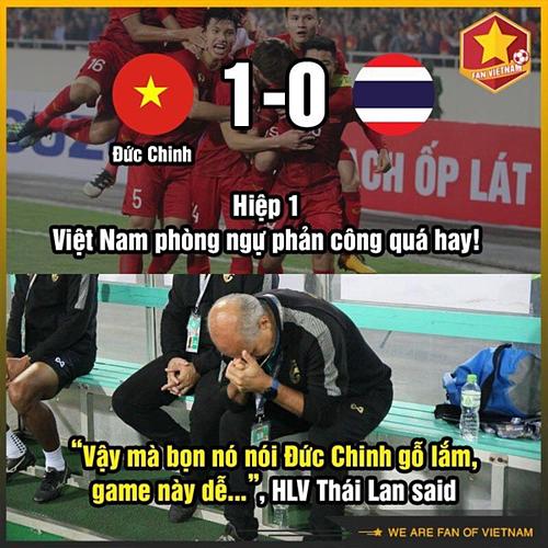 CĐV chế ảnh Việt Nam thắng Thái Lan 4-0 - 2