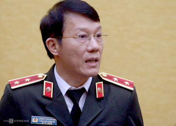 Trung tướng Lương Tam Quang, Chánh Văn phòng Bộ Công an. Ảnh: Bá Đô.