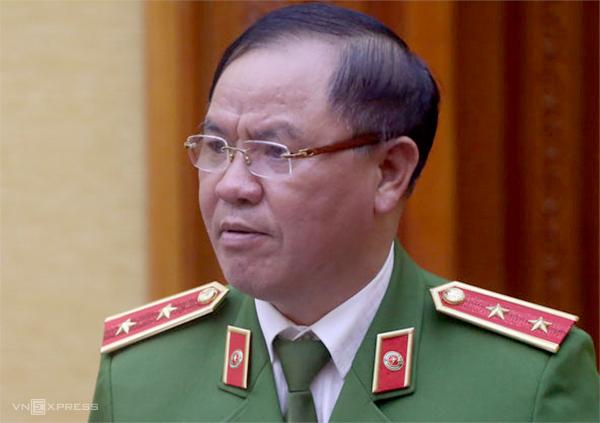 Trung tướng Trần Văn Vệtrong chiều 25/3. Ảnh: Bá Đô