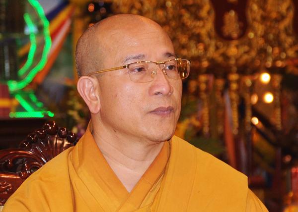 Đại đứcThích Trúc Thái Minh, trụ trì chùa Ba Vàng, TP Uông Bí, Quảng Ninh. Ảnh:Viết Tuân