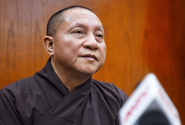 Thầy Thích Gia Quang, Phó chủ tịch Hội đồng trị sự Giáo hội Phật giáo Việt Nam. Ảnh: Giang Huy