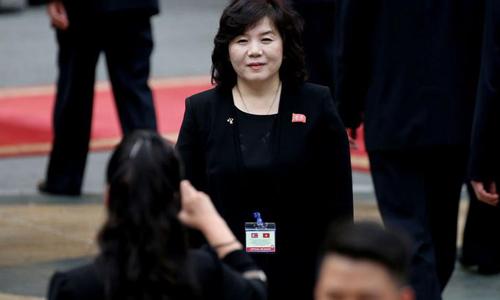 Thứ trưởng Bộ Ngoại giao Triều Tiên Choe Son-hui. Ảnh: Reuters.