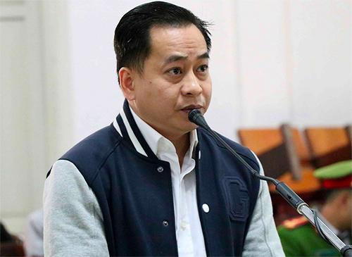 Bị cáo Phan Văn Anh Vũ tại phiên tòa sơ thẩmmở từ ngày 28 đến ngày 30/1.