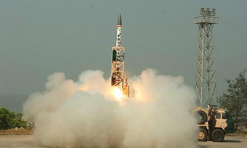 Tên lửa đánh chặn Ashwin được Ấn Độ phóng thử hồi năm 2016. Ảnh: Wikipedia.