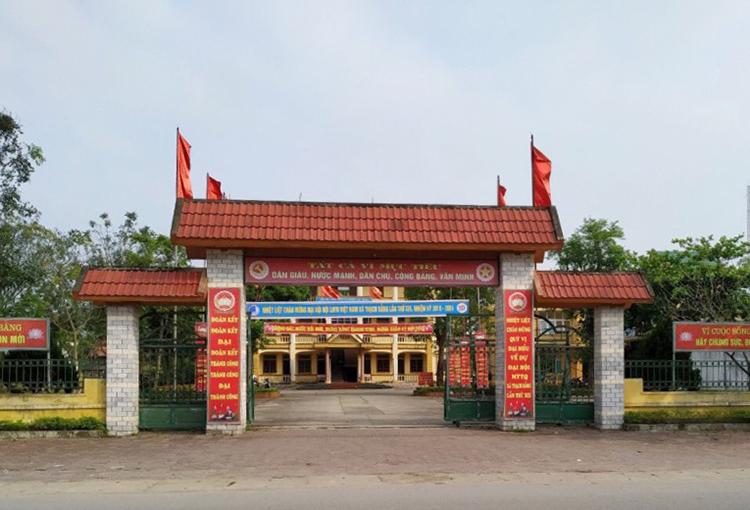 Trụ sở UBND xã Thạch Bằng. Ảnh: H.N