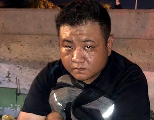 Nghi can Đài Loan bị bắt tại hiện trường. Ảnh: Facebook.