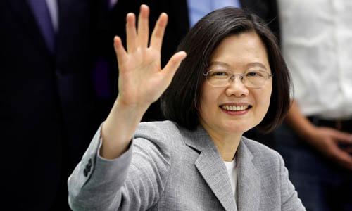 Lãnh đạo Đài Loan Thái Anh Văn trong một sự kiện tại Đài Bắc hôm 21/3. Ảnh: Reuters.
