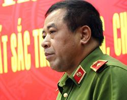 Thiếu tướng Phạm Văn Các nói về chuyên án. Ảnh: Phạm Duy.