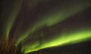 Cực quang uốn lượn trên bầu trời đầy sao ở Canada