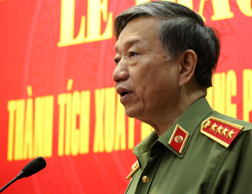 Bộ trưởng Tô Lâm nói về tội phạm ma túy. Ảnh: Phạm Duy.