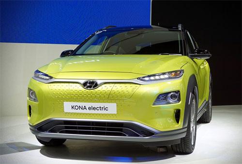 Kona Electric ra mắt tại triển lãm ôtô Bangkok. Ảnh: Kapook