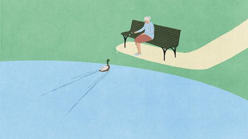 Không chỉ người trẻ mà số người tuổi từ 45 đến 64 sống một mình ở Anh ngày càng tăng. Ảnh minh họa:Economist.