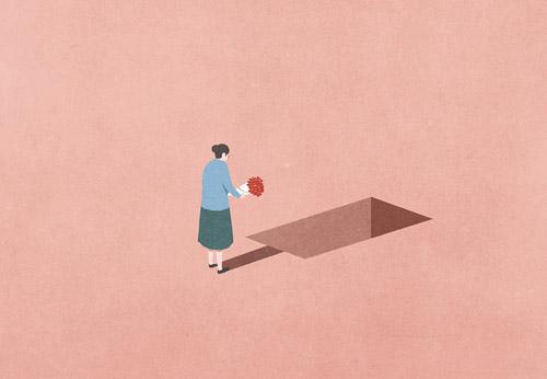 Càng già, cảm giác cô đơn càng lớn hơn. Ảnh minh họa: Economist.
