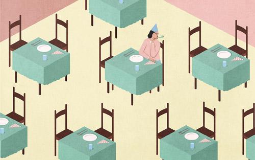 Ước tính 17 triệu người trưởng thành ở Anh đang sống một mình. Ảnh minh họa: Economist.